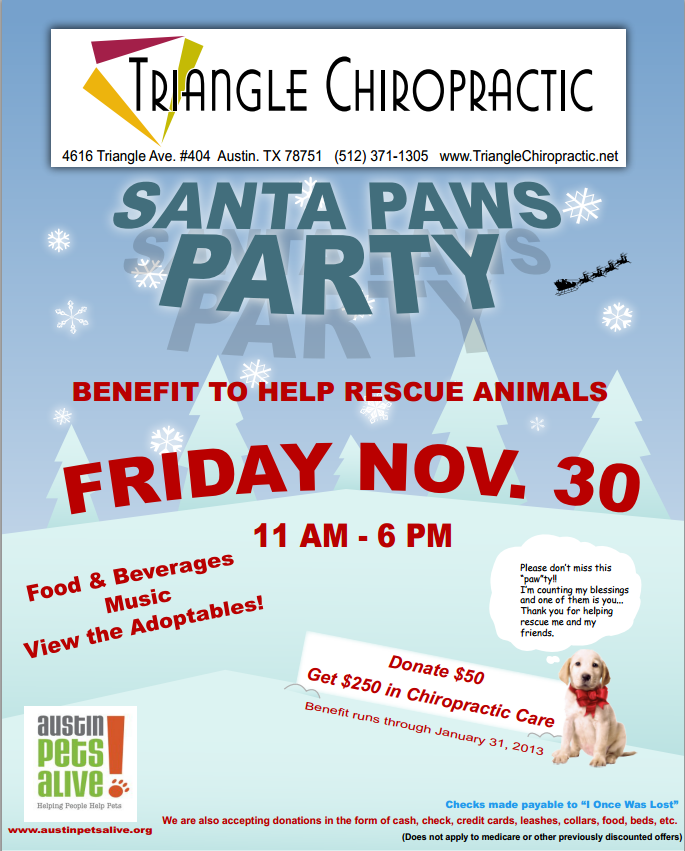 TriangleChiropracticSantaPaws