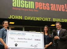 Loewy Law Firm check donation