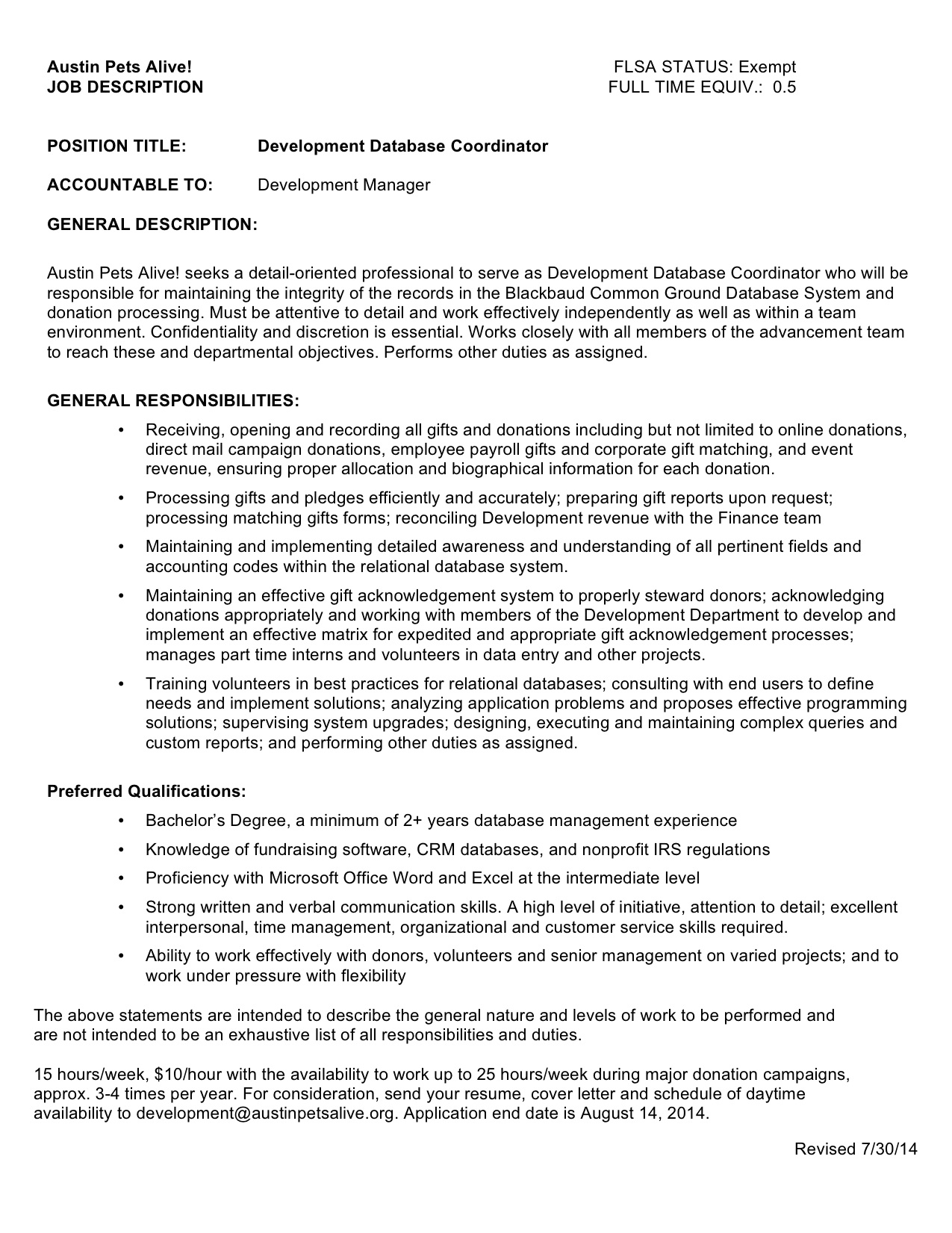 Development Worker Cover Letter