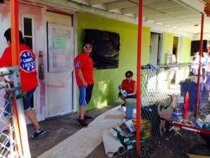 Cattery Building During Lowes Heroes