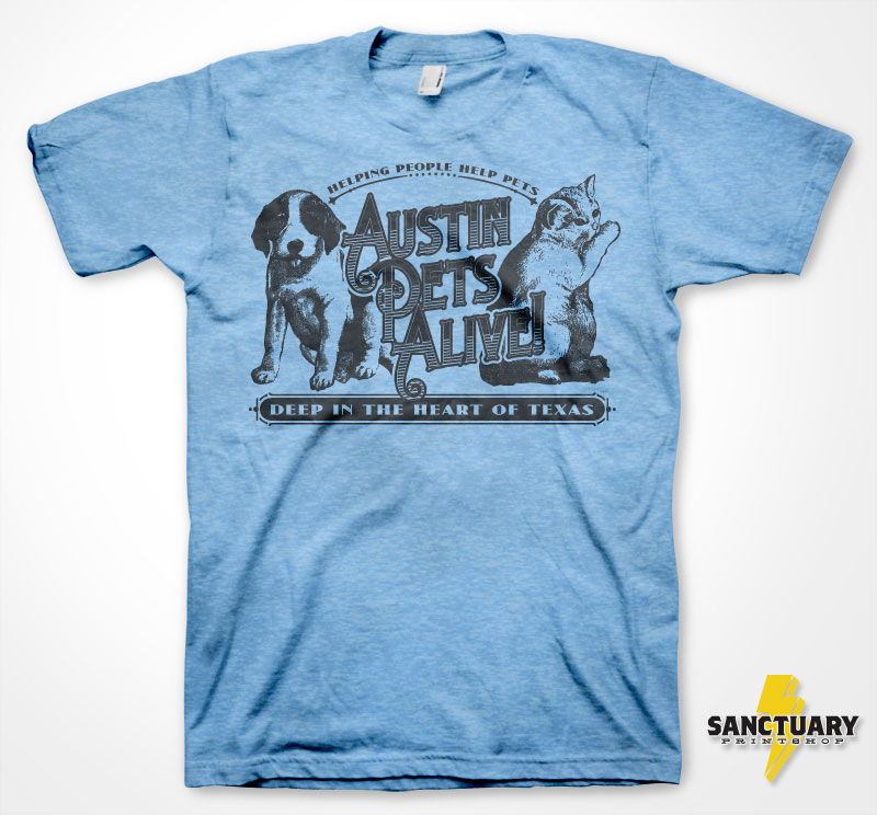 """Deep in the Heart of Texas"" T-shirt – Blue"