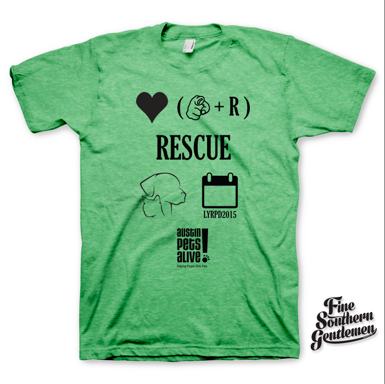 Limited Edition – Love Your Rescue Pet Day T-Shirt – Green