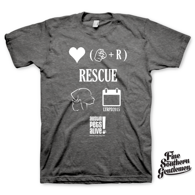 Limited Edition – Love Your Rescue Pet Day T-Shirt – Gray